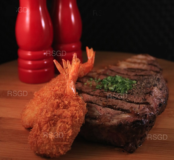 Rib-eye & Shrimp