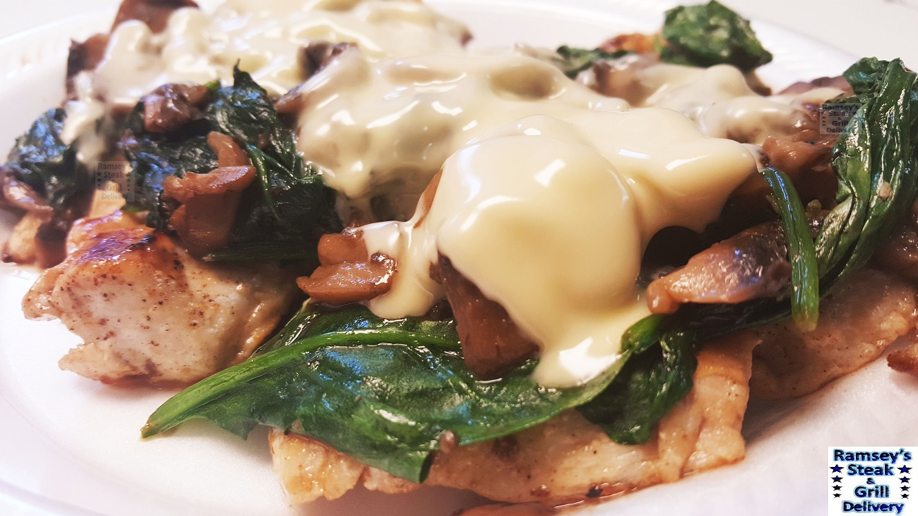 Mushroom & Spinach Chicken Dinner