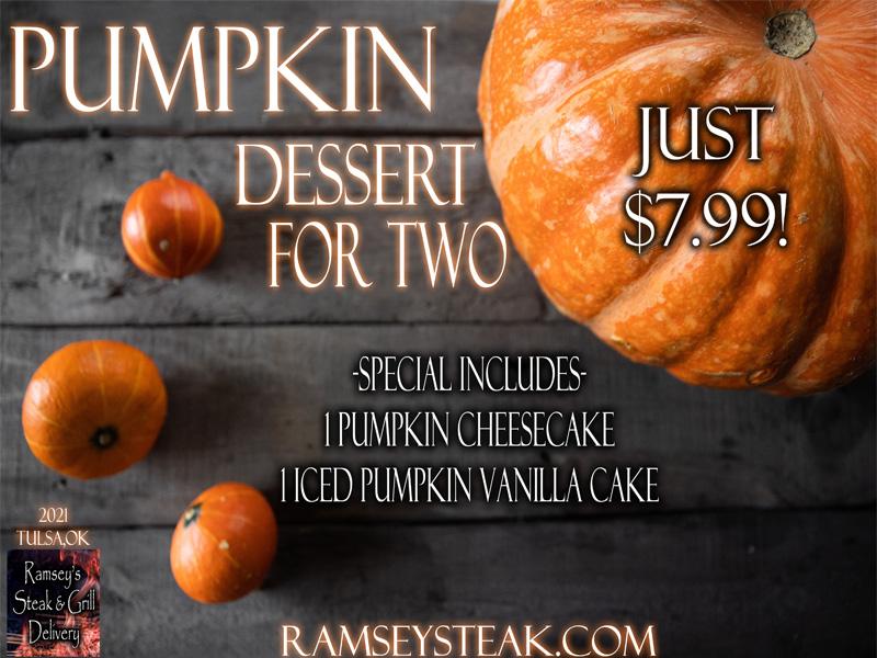 Pumpkin Dessert For Two!